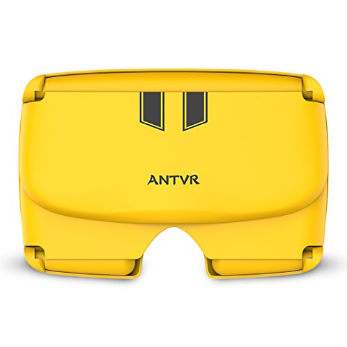 """ANTVR Energy Edition-Yellow 3D VR BOX Folding Glasses Headset Virtual Reality Head Mount for 5""""-6"""" Energy Edition, Yellow"""