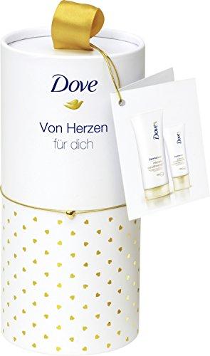 Dove DermaSpa Geschenkset intensiv verwöhnend: Verwöhnende Handcreme und Body Lotion in Premium Rundbox, 1er Pack (1 x 1.856 Liter)