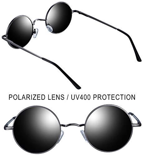 3f6574e370 Joopin-Round Retro Polaroid Sunglasses Driving Polarized Glasses Men  Steampunk - Buy Online in UAE.