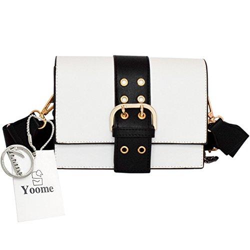 Yoome Flap Bag Cintura Chain Contrast Color Borse Piccole Per Ragazze Borse Satchel Per Borse Donna Borse