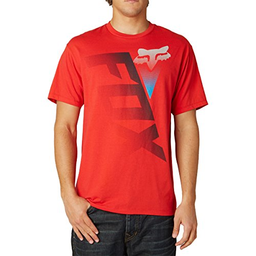 Fox Racing Mens Digitize Short-Sleeve Shirt X-Large Red