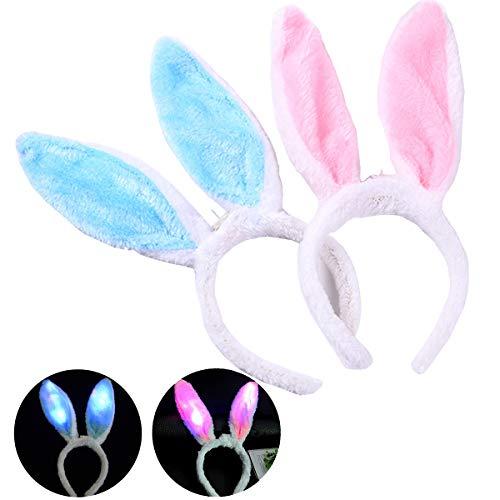 Encoy Light Up Bunny Ears Headband Toys with