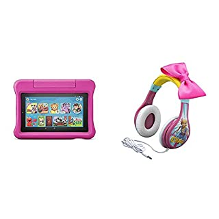 Fire 7 Kids Edition Tablet (Pink) + Toy Story Headphones (Bo Peep)