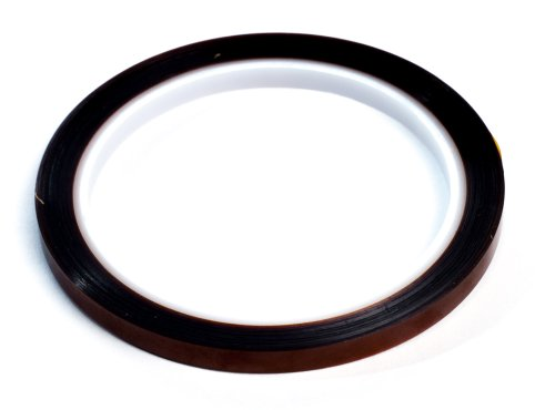 """Bertech 1/8"""" Wide x 36 Yards Long High Temperature Polyimide Tape, 1 Mil Thick on a 3"""" Core"""
