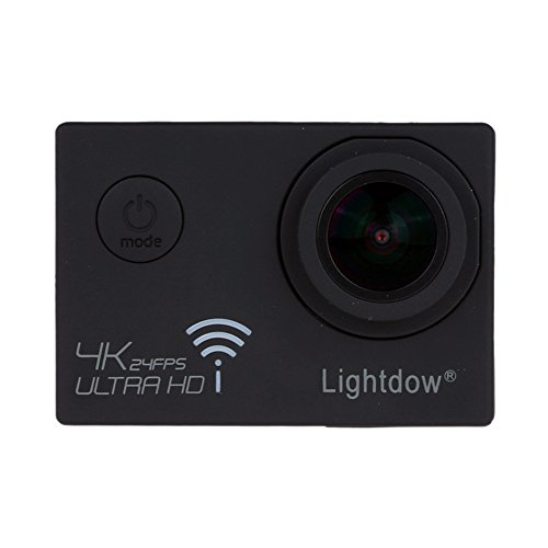 Lightdow LD-4K 12.40M Real 4K High Speed Wifi Sports Action Camera Bundle with Upgrade DSP: Novatek NT96660 Chip, Sony IMX117CQT COMS Sensor, 170° Wide Angle Lens and Bonus Battery (Black) Action Cameras ZLY Technology