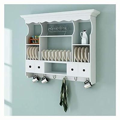 HomyDelight Kitchen Cabinet, Wooden Kitchen Wall Cabinet White
