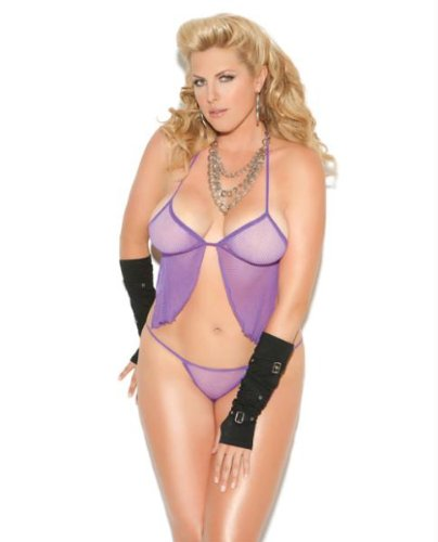 Collection Fishnet (HSL8583Q Vivace Collection by Elegant Moments - Fishnet cami top and g-string.)