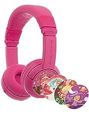 BuddyPhones Play +, draadloze Bluetooth-volumebeperking Kinderen Hoofdtelefoon, 20-uur Levensduur batterij, 3 Instellingen volume, Roze