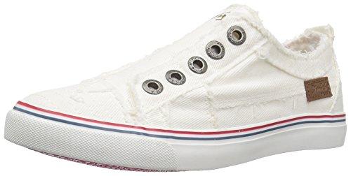 Blowfish Kids Girls' Play-k Sneaker, Off White Westside Smoked Denim, 5 M US Big Kid