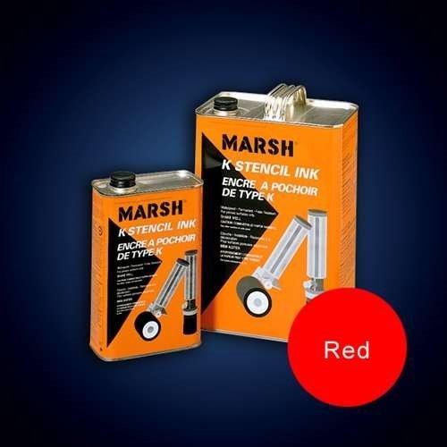 Marsh K Stencil Ink, Quart Of Red by Marsh