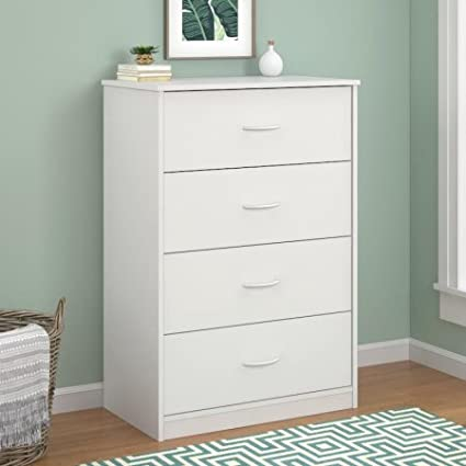 Mainstays 4 Drawer Dresser White