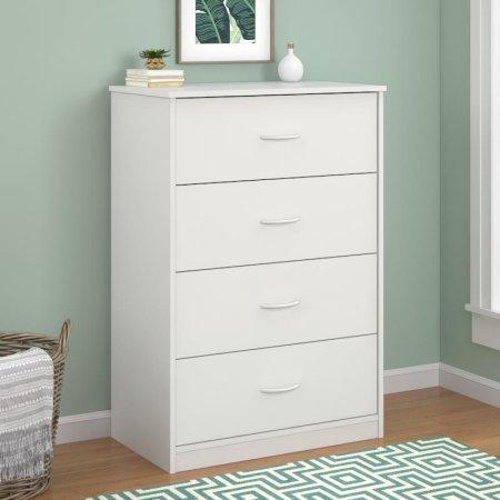 Mainstays 4-Drawer Dresser White (Drawer Dresser)