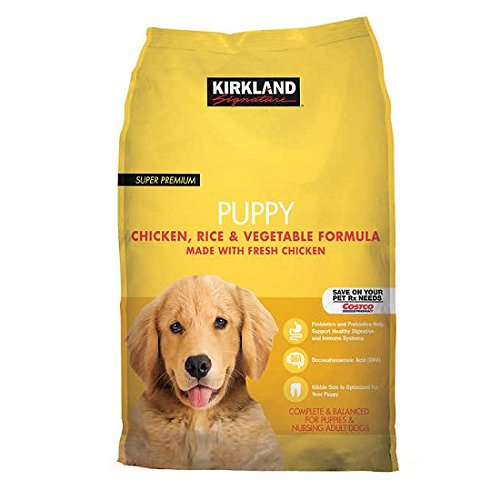 Kirkland Signature Super Premium Puppy Dog Food, Chicken, Rice & Vegetable Formula, 20 lb