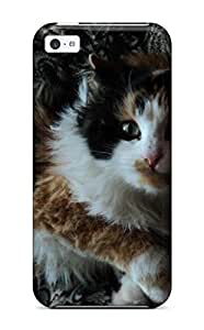 New Shockproof Protection Case Cover For Iphone 5c Cat With Wild Hair Case Cover