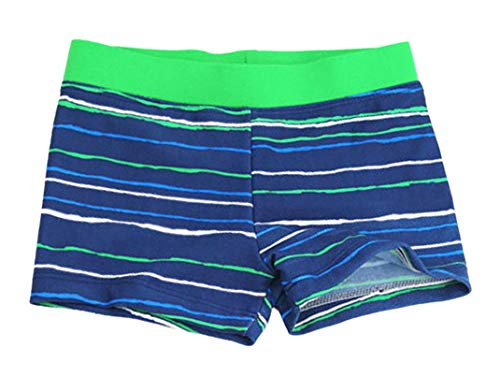 Aivtalk Kids Boys Swimming Trunks Swim Boxer Shorts Underpants, Stripe Blue, Medium 2-3years ()