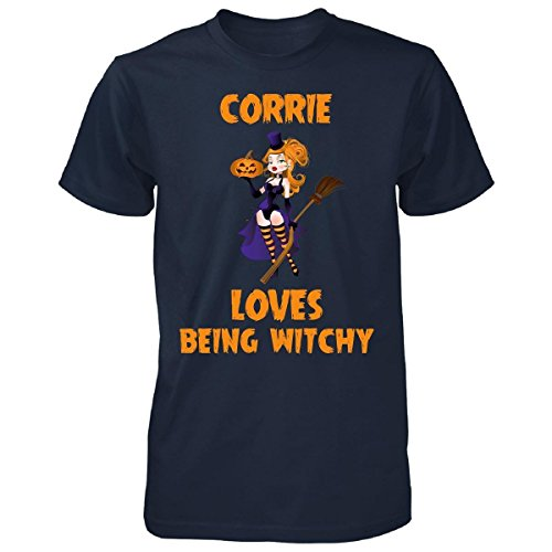 Corrie Loves Being Witchy Halloween Gift - Punk Style Mens T -
