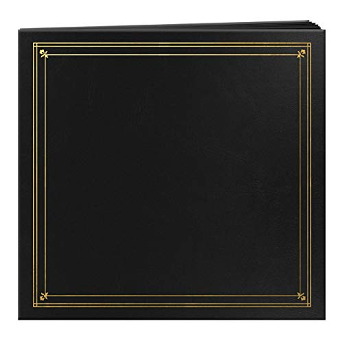 Pioneer Photo Albums 204-Pocket Post Bound Leatherette Cover Photo Album for 4 by 6-Inch Prints, Black ()