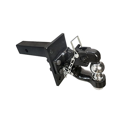 2'' x 2'' Solid Adjustable Mounting plate & 8 Ton Pintle w/ 2'' Ball COMBO (1/2' Trailer Receiver)