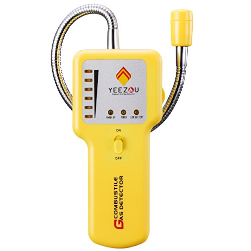 Gas Electronic (Natural Gas Detector,Portable Propane/Methane/Combustible Gas Sniffer Leak Sensor Alarm Tester with Sound Light Warning)