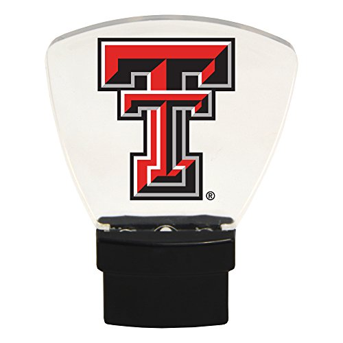 (Authentic Street Signs NCAA Officially Licensed, LED NIGHT LIGHT, Super Energy Efficient-Prime Power Saving 0.5 watt, Plug In-Great Sports Fan gift for Adults-Babies-Kids (Texas Tech Red Raiders))