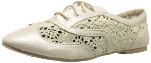 Chaussures Recherchées Womens Lace-up Oxford Gold