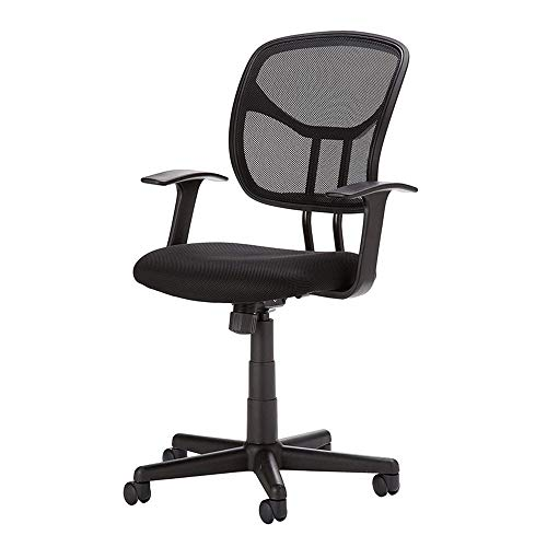 HANXIAODONG Breathable Mesh Office Chair Office Adjustable Chair Mid-Back Black Mesh Chair Swivel Ergonomic Computer Office Chair Mesh Drafting Chair