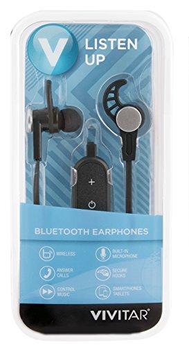 Vivitar Bluetooth Earphones with Built-in Microphone & Music Control Black