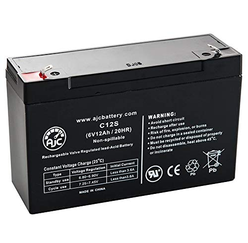 Portalac GS PE6V12 6V 12Ah Emergency Light Battery - This is an AJC Brand Replacement