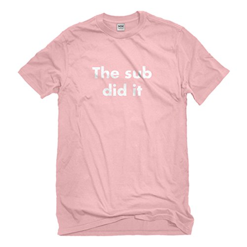 Mens The Sub Did it Small Light Pink T-Shirt