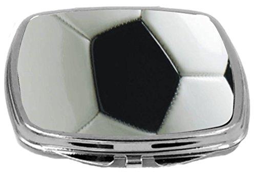 Rikki Knight Compact Mirror, Soccer Ball by Rikki Knight
