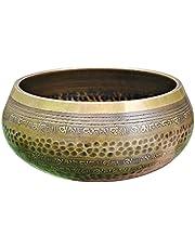 Handmade Music Bowl Tibetan Singing Bowl Set With Buddhist Scripture Symbols, Used For Meditation, Mindfulness, And Spiritual Purification