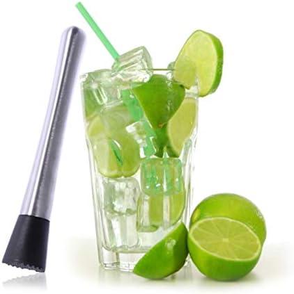 Hemoton 2 Stück Cocktail-Stößel Cocktail Muddler Edelstah Barstößel Getränk Muddler Bar Werkzeuge Stößel für Altmodische Mojitos 21Cm