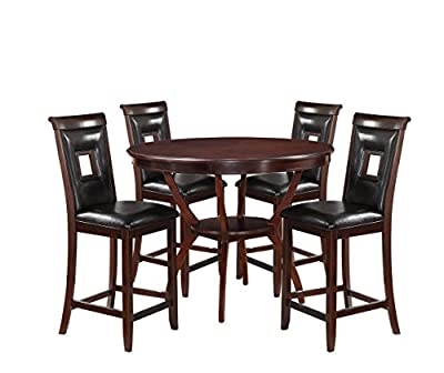 Acme Furniture Oswell 5 Piece Counter Height Dining Table Set