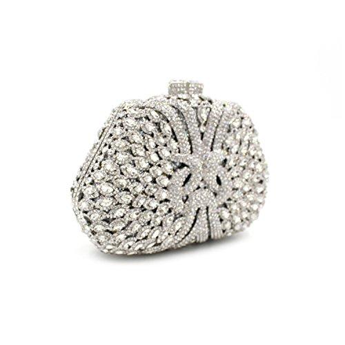Flada chica y damas de lujo bolso de embrague de noche de diamantes de imitación bolso de embrague para la boda del baile de graduación #2 #3