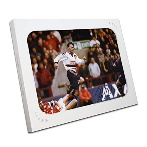 Ryan Giggs Signed Manchester United Photo: FA Cup Semi Final Wonder Goal In Gift Box