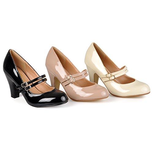 Pompa Del Vestito Del Jaclyn Del Brinley Co Womens Regular & Large Sizes Black Pu Pu