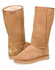 Australian Leather UGG Boots Long Classic Unisex Chestnut