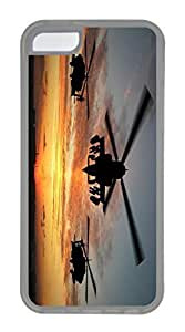 iPhone 5C Case, Customized Protective Soft Clear Case for iphone 5C - Plane Sunset Cover