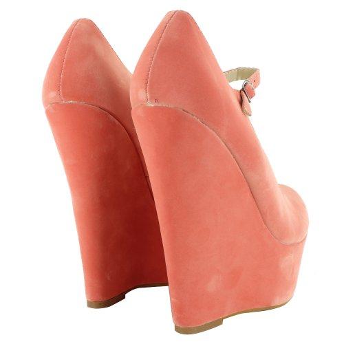 Footwear Sensation - Sandalias de vestir de sintético para mujer Naranja - Coral