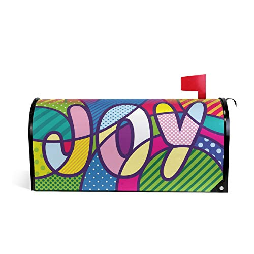 (WOOR Joy Lettering Pop Art Magnetic Mailbox Cover Standard Size-18