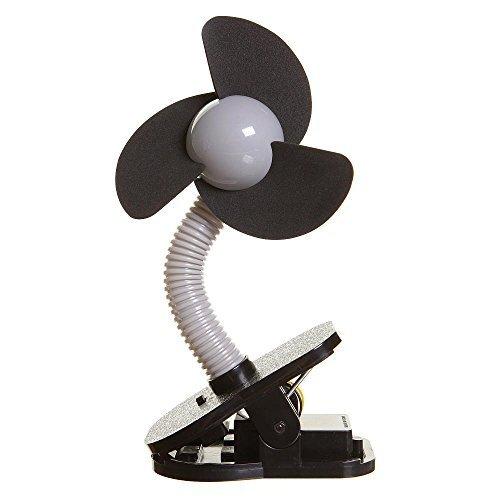 Dreambaby Clip On Fan - Silver with Black Foam Pack of 2 by Dreambaby
