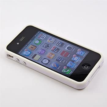 iPhone 4 White Protective Bumper Phone Case