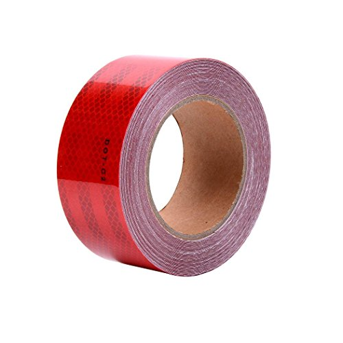 """Red DOT-C2 Conspicuity Reflective Tape - 2"""" Inch X 50' Feet"""