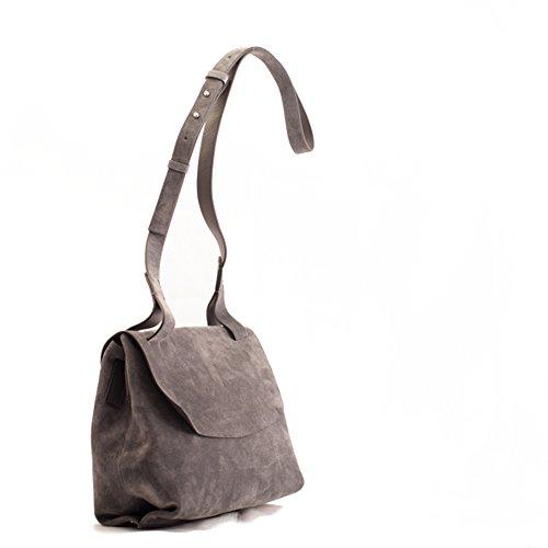 Coccinelle borsa a tracolla grigio fumo