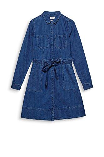 Dark Para 901 Esprit Wash Azul Mujer blue Vestido 6UWfqwg