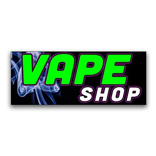 Vape Shop Vinyl Banner 5 Feet Wide by 2 Feet ()