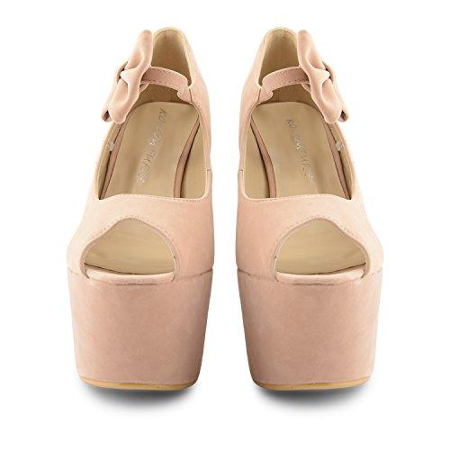 Footwear Sensation - Sandalias de vestir para mujer negro negro color carne