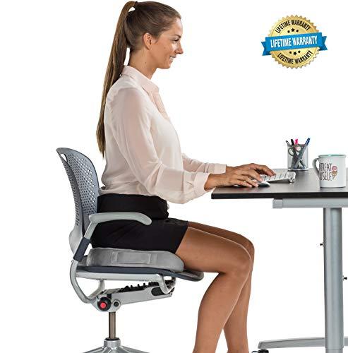 Ergonomically designed seat cushion provides maximum support