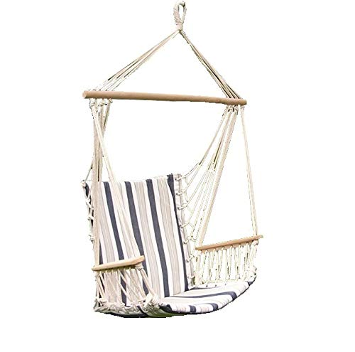 Styled Shopping Deluxe Harmony Blue and White Hanging Hammock Sky Swing Chair