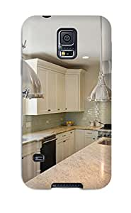 For DOCYkcg1266amzyh Kitchen With White Cabinets Amp Stainless Lights Protective Case Cover Skin/galaxy S5 Case Cover